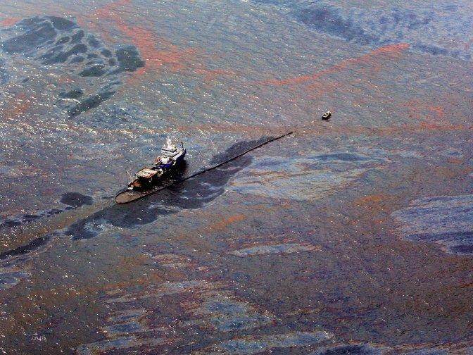 Oil Spill Fall /percobaan tumpahan minyak